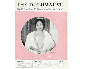 Sétha_May 1974_The Diplomatist